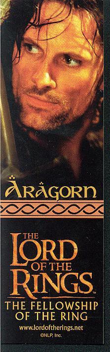 LOTR Bookmark of Aragorn - 223x711, 52kB