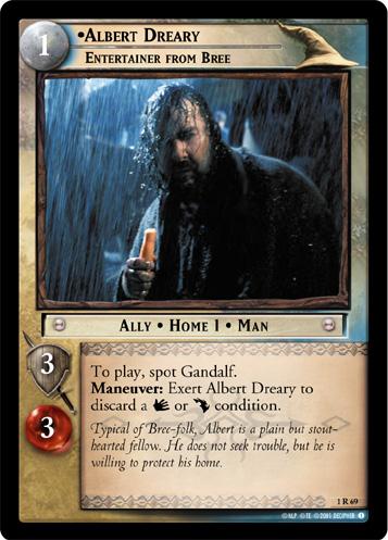 'Albert Dreary' PJ's Decipher Card - 357x497, 85kB