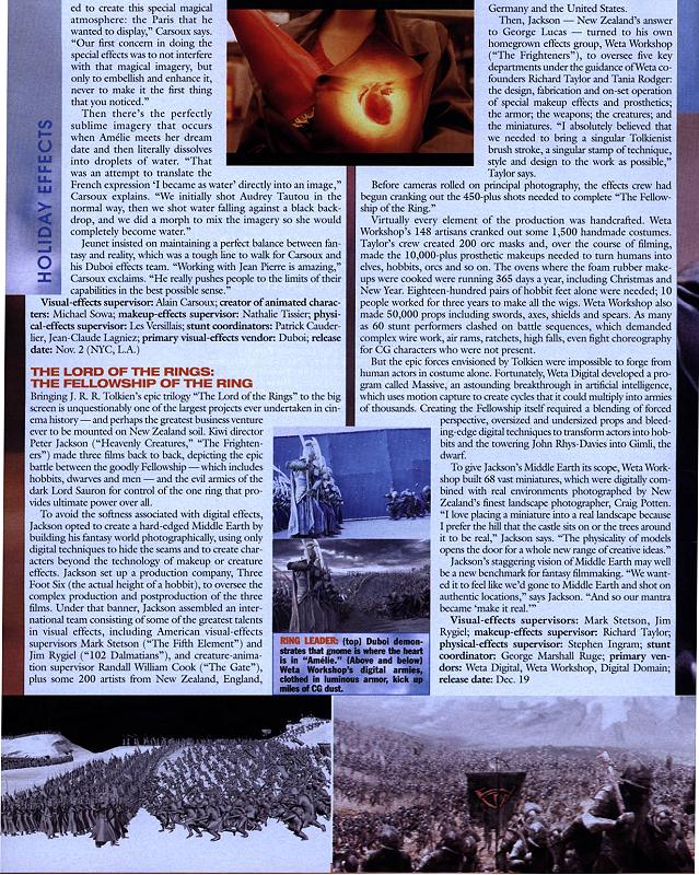 SFX Article in Hollywood Reporter 2001 - 639x800, 185kB