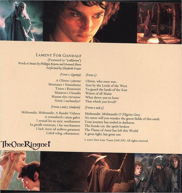 FOTR Soundtrack - Lament for Gandalf - 754x800, 126kB