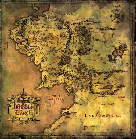SE FOTR Soundtrack - Middle-earth Map - 440x449, 118kB