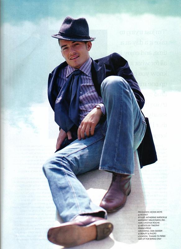 Orlando Bloom in Harper's Bazaar - 582x800, 61kB