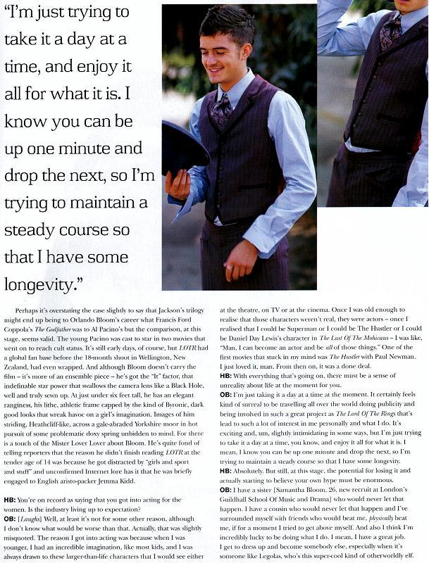 Orlando Bloom in Harper's Bazaar - 609x800, 132kB