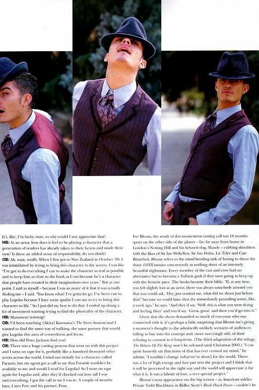 Orlando Bloom article in Harper's Bazaar - 532x800, 104kB