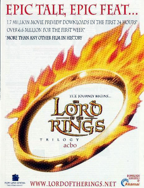 LOTR Advert From New Line - 465x609, 90kB