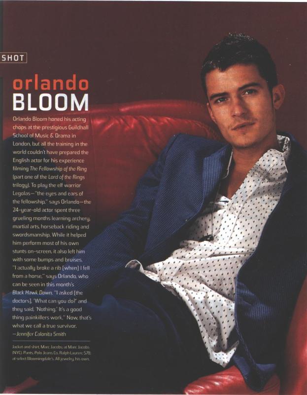 Orlando Bloom In Teen People - 623x800, 60kB