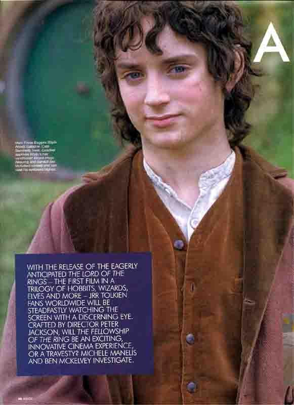 Juice Magazine: Frodo Baggins - 581x800, 33kB
