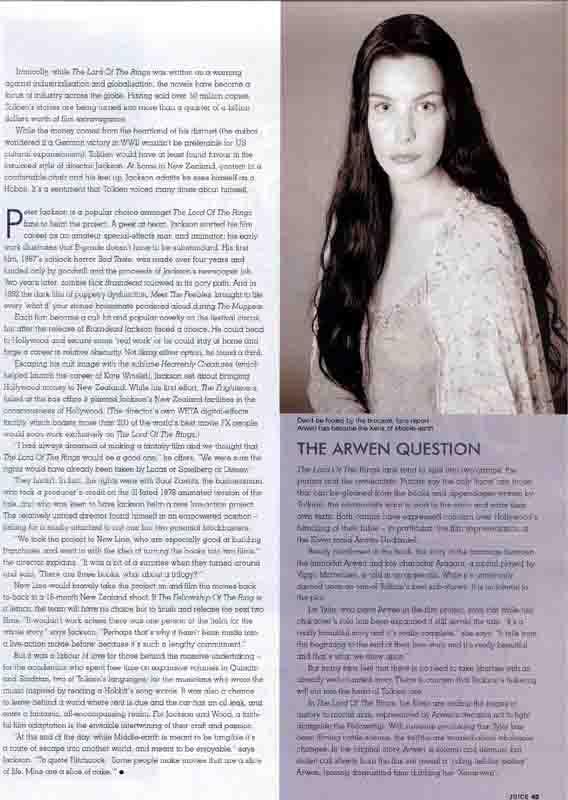 Juice Magazine: Arwen Undomiel - 568x800, 46kB