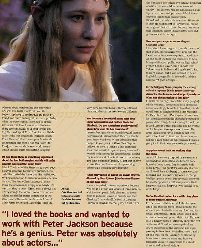 Dreamwatch Magazine: Galadriel Again - 652x800, 134kB