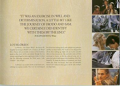 Variety LOTR Booklet: Filming Lothlorien - 395x284, 28kB