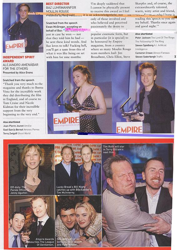 Empire Magazine reports on the 2002 Empire Awards - 567x800, 121kB
