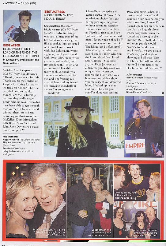 Empire Magazine reports on the 2002 Empire Awards - 542x800, 129kB
