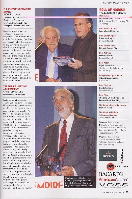 Empire Magazine reports on the 2002 Empire Awards - 533x800, 112kB
