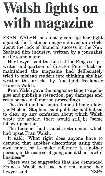 Frances Walsh Sues The Listener - 446x743, 111kB