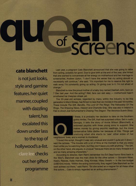 Media Watch: Scope Magazine Talks Cate Blanchett - 563x768, 83kB