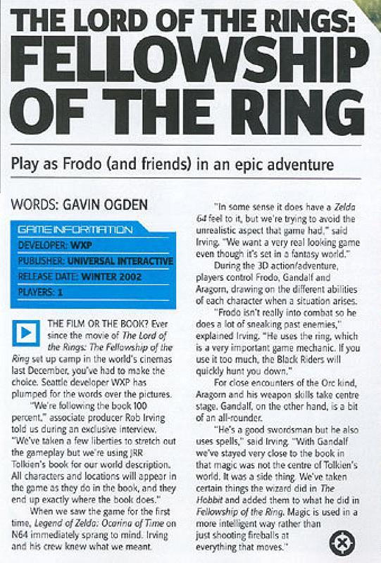 Media Watch: XBox magazine Talks LOTR Game - 541x800, 116kB