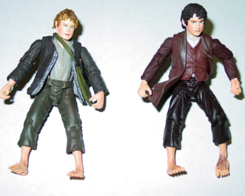 Sam and Frodo figures from FOTR Toybiz - 500x400, 72kB