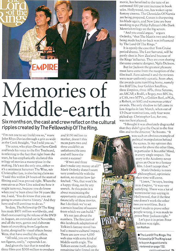 Media Watch: Empire Magazine 'Return of the Kings' - 560x800, 585kB
