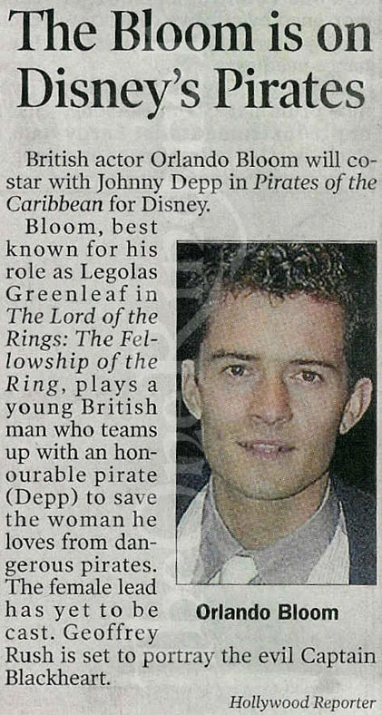 The Hollywood Reporter: Orlando in 'Pirates' - 421x788, 109kB