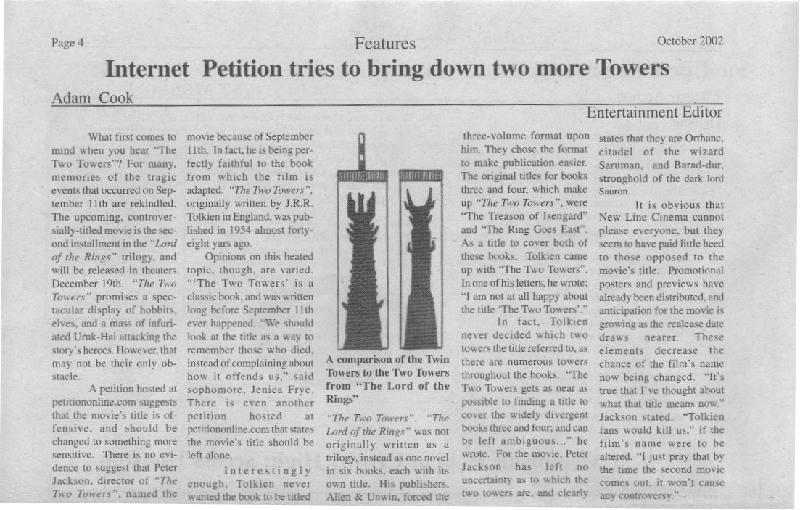Internet Petition tries to bring down two more Towers - 800x510, 80kB