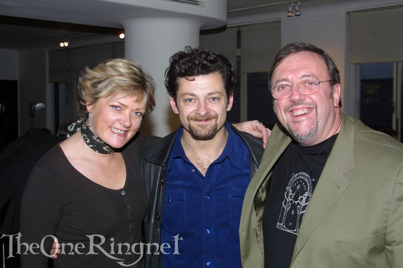 Andy Serkis, Brian Sibley and Jude Fisher - 800x533, 67kB