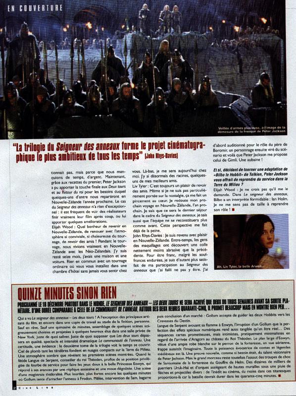 Media Watch: Cine Live Magazine - 598x800, 177kB