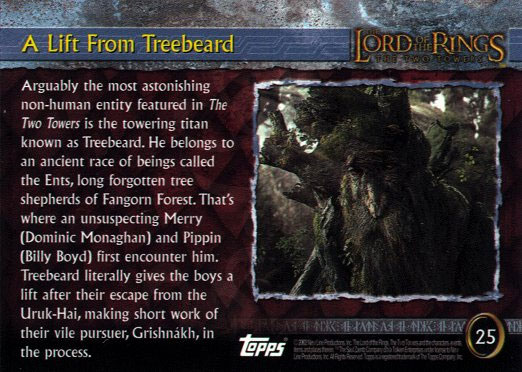 Topps TTT Cards - A Lift from Treebeard (back) - 522x372, 70kB