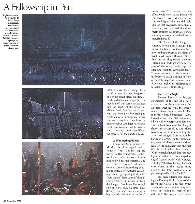 Media Watch: American Cinematographer - Helm's Deep Under Siege - 767x800, 178kB