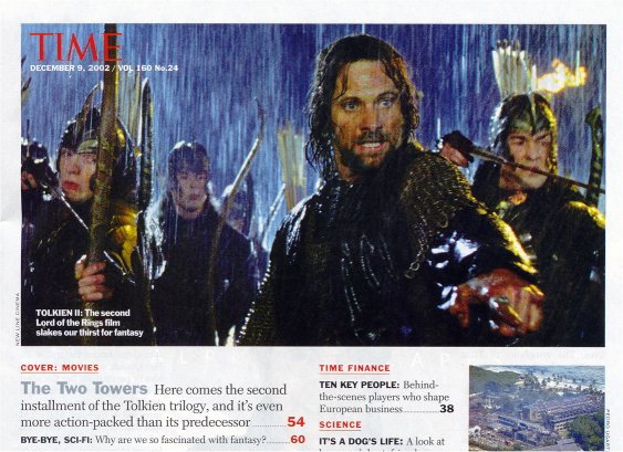 Media Watch: Time Magazine - Aragorn leads Helm's Deep - 563x409, 71kB