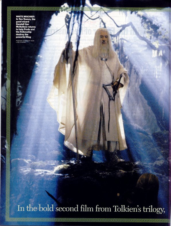 Media Watch: Time Magazine - Gandalf the White revealed - 596x787, 120kB