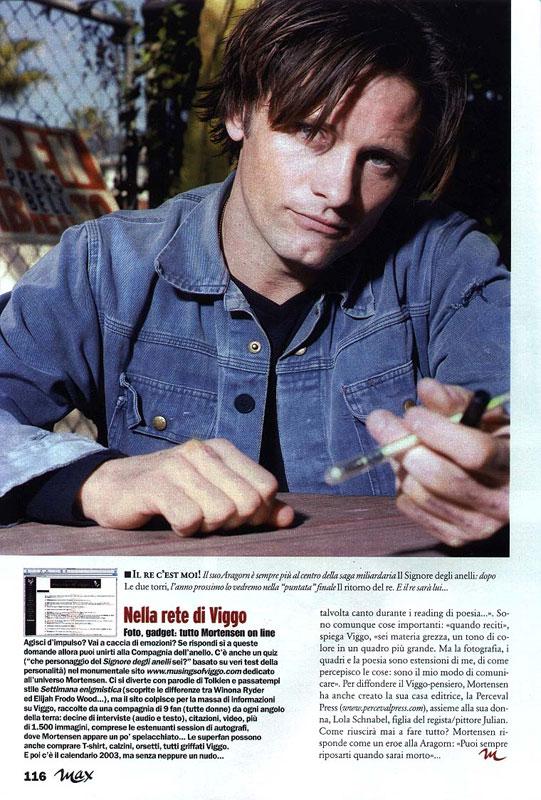 Media Watch: Viggo in Max Magazine - 541x800, 135kB