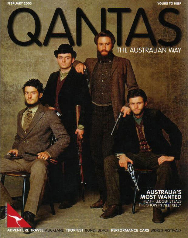 Ned Kelly images in Qantas Magazine - Feb '03 - 619x780, 111kB