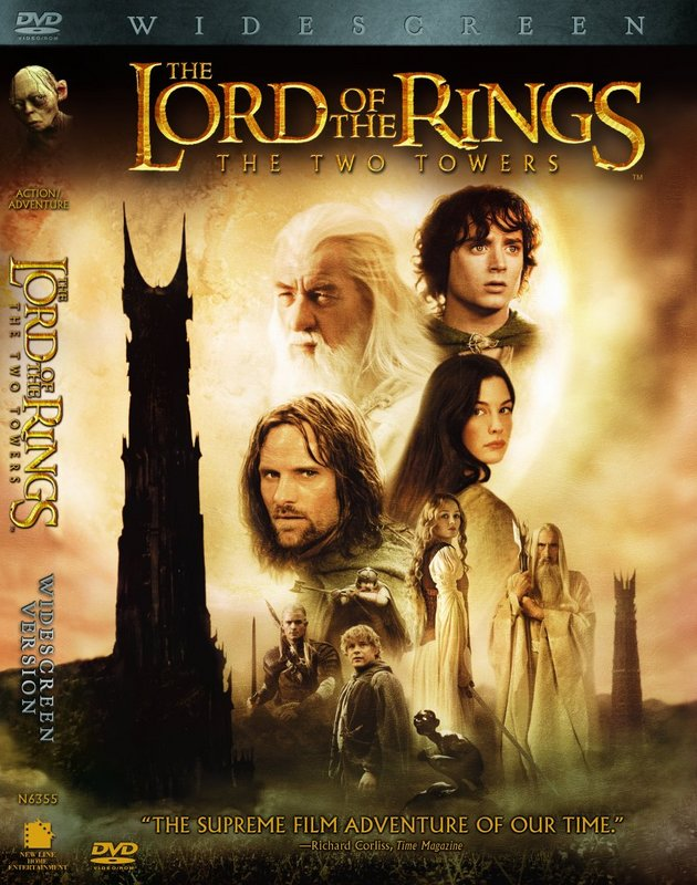 DVD Cover For Two Towers - 630x800, 115kB