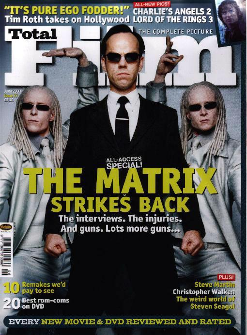 Media Watch: Total Film Magazine's June 2003 Issue - 510x691, 100kB