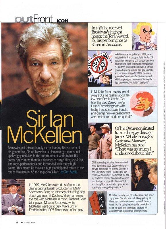Media Watch: Ian McKellen in Out! Magazine - 578x800, 132kB