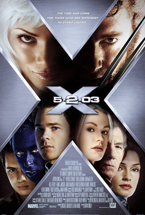 X2: X-Men United Theatrical Poster - 485x716, 103kB