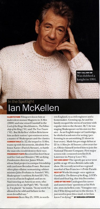 Media Watch: McKellen in Biography Magazine - 382x800, 93kB