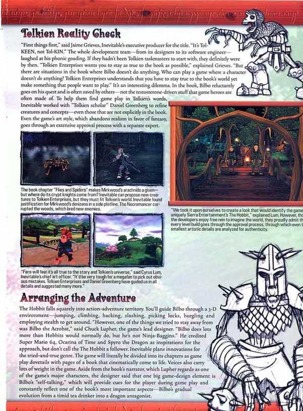 Media Watch: Nintendo Power talks 'The Hobbit' Game - 590x800, 176kB