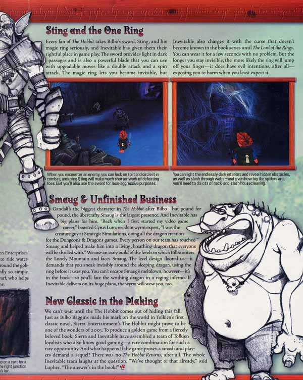 Media Watch: Nintendo Power talks 'The Hobbit' Game - 600x753, 91kB
