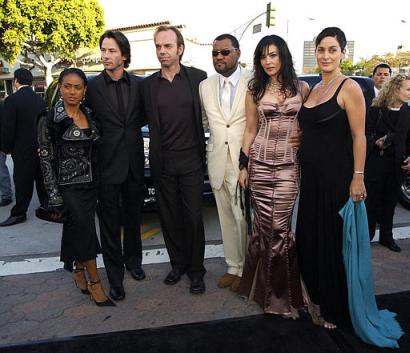 Hugo Weaving At The Matrix: Reloaded Premiere - 410x353, 29kB