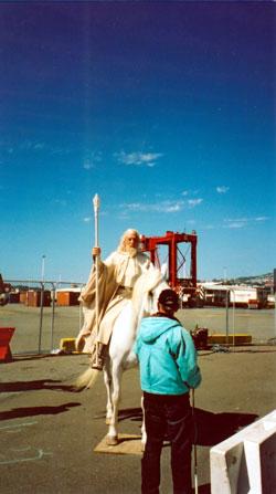 Gandalf the White Prepares to ride - 250x447, 25kB