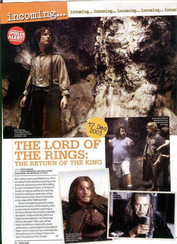 Media Watch: Total Film Magazine talks ROTK - 581x800, 142kB