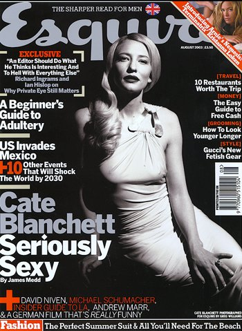 Media Watch: Blanchett on the cover of Esquire - 350x479, 67kB