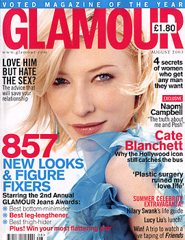 Media Watch: Blanchett Graces Cover of Glamour - 270x351, 50kB