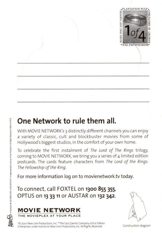 Movie Network FoTR Postcards - Number One - 557x800, 62kB