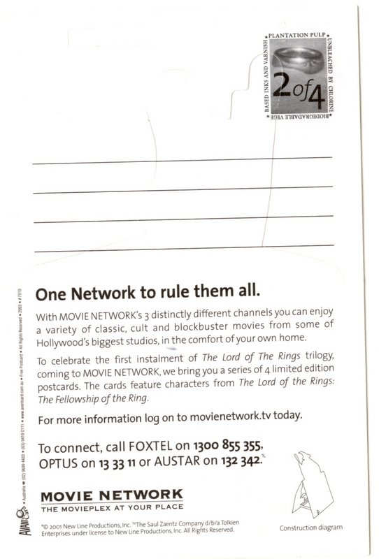 Movie Network FoTR Postcards - Number Two - 542x800, 60kB