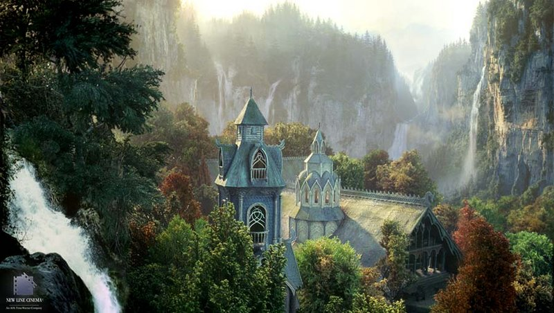 Rivendell Matte Painting - 800x452, 100kB