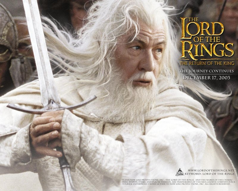 LoTR.net Gandalf Wallpaper - 800x640, 116kB