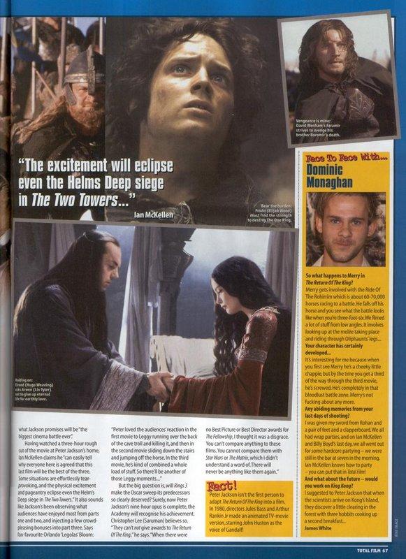 Media Watch: Total Film Magazine Talks ROTK - 581x800, 115kB