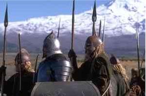 Gondorian Soldier Among Rohirrim - 300x199, 50kB